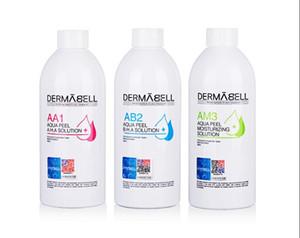Solution Peeling Aqua AA1 AB2 AM3 bouteilles / 400ml par bouteille Aqua visage Sérum Hydra Sérum visage pour peau normale
