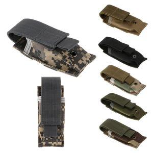 Molle 단일 권총 매거진 매거진 포치 손전등 / 공구 나이프 칼집 카트리지 클립 홀스터 벨트 홀더 멀티 컬러 옵션