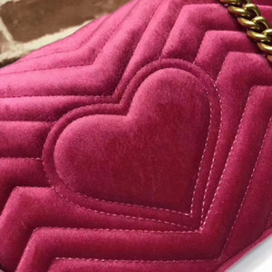 2019 NEUE ANGEKOMMEN Luxus Handtaschenfrauen-Designer kleine Boten Velour Taschen feminina Samt Mädchen Tasche kommt mit Kasten, zwei Größe