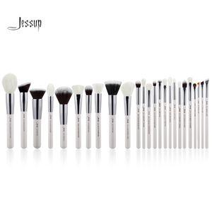 Jessup Pearl Blanc / Argent Pinceaux De Maquillage Professionnels Pinceaux Ensembles Beauté de Haute Qualité Maquillage Tool Kit Fondation Poudre Blush