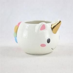 Taza de café de cerámica 3D Taza del unicornio de Drinkware Eco Friendly Diseño creativo Regalo de cumpleaños lindo de la manera Venta caliente 14fg ii