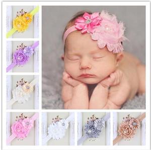 15 цветов Прекрасного диапазона волос младенца девушка ободки шифонового волос цветок Тип элемент Глава аксессуары Детской Hairband