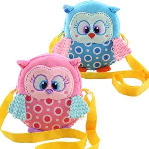 Crianças Dos Desenhos Animados OWL Única Bolsa de Ombro 2 Cor Menina Animal Mochila SHoulder Encantador Dos Desenhos Animados Mochila Frete Grátis B0088
