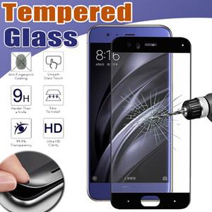 Carbon-Faser-3D-ausgeglichene Glas-Volldeckung 9H Premium-Schirm-Schutz-Schutz-Film für Xiaomi Mi 8 SE 6 Plus 6X 5 5C 5X 5S Anmerkung 3 Mix 2S Max 2