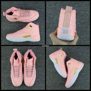 2017 neue 12 gs dynamische rosa frauen basketball schuhe vivid rosa 12 s sport turnschuhe trainer hohe qualität basketball schuhgröße 36-40