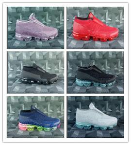 Se platinum zapatos para correr niños blanco Gris Negro Universidad Red Infantil Niño Niño Transportes Boy Girl Niños Lacless Slip on Sneakers