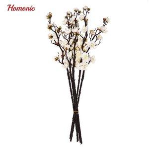 Accordo Nuova artificiale di disegno di Plum Blossom Floral Wedding Cherry Blossoms della decorazione della casa Fake Flowers Arreglos Florales artificiale