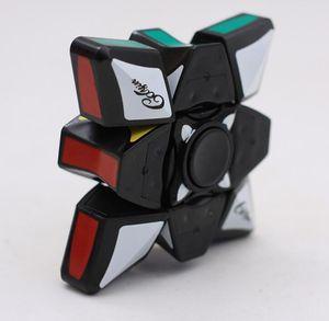 Zappeln Spinner Magic Cube 2IN1 Puzzle Würfel Zappeln Würfel Finger Gyro Neuheit EDC Dekompression Spielzeug 60 Stück