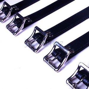7Pcs Set Cuffs # R56 Körpergürtel Vollharness Lederband Restraint Abschließbare New Slave Esibi