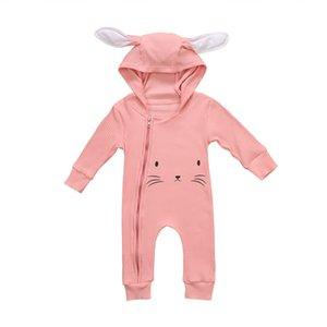 Pudcoco Cute Cartoon Newborn Infant Toddler Bambini Neonate Ragazzi Felpa con cappuccio manica lunga pagliaccetto Tuta Outfit vestiti caldi 0-3T