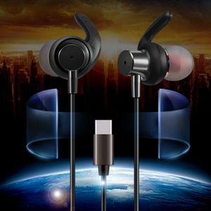 Per Xiaomi Note 3 Mix 2 Nubia Z17 moto Z HiFi Tipo C Cuffie auricolari per Jack In Ear con microfono Volume Control Wired Noise Cancelling Earbuds