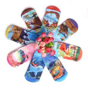 1-10 años niños Calcetines cortos de corte bajo 3D Impreso Animal Cat Calcetines de tobillo Calcetines cortos de señoras Imagen de arte Calcetines de niñas