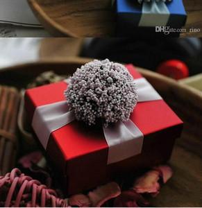 Bonita fiesta de bodas Favorece las cajas de regalos con la cinta Flor Caramelo Cajas de chocolate Cajas de papel Baby Shower Giftbox 3 colores