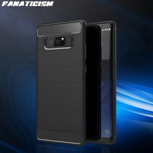 Cajas de armadura escarpada para Samsung S20 Ultra S10 S10E S9 S8 Plus Note 10 9 Silicona suave Tapa del teléfono de fibra de carbono a prueba de golpes
