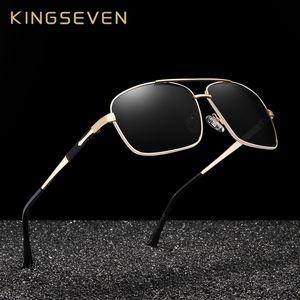 X KINGSEVEN дизайн мужчины классический квадратный поляризованные солнцезащитные очки для вождения UV400 защиты N7713F