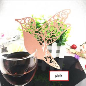 레이저 커팅 페이퍼 와인 유리 장소 카드 새 카드 와인 글라스 카드 크리 에이 티브 웨딩 파티 장식 패션 웨딩 호의 BP081