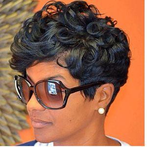 2018 weibliche lose Perücke synthetische große Welle chemische Faser hohe Temperatur kurze lockige Haare afrikanische lockige Partei
