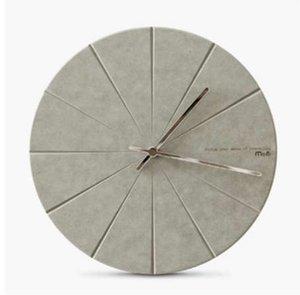 Moderne Minimaliste En Bois En Bois Horloge Avancée Vogue Exquise Artistique Délicatesse Européenne Circulaire Silencieuse Décor Horloge