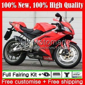 Aprilia RS4 için parlaklık Parlak kırmızı RSV125 06 07 08 09 10 11 RS-125 0MT19 RS 125 R RS125 2006 2007 2008 2009 2010 2011 Fairing Karoser
