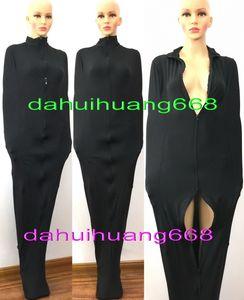 Унисекс Мумия костюмы спальные мешки снаряжение новый черный лайкра спандекс Мумия костюм костюмы унисекс спальные мешки с внутренней рукой рукава DH171