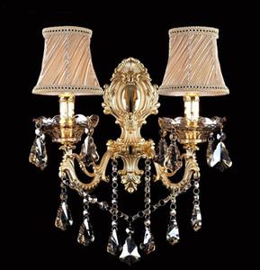 Moda kristal duvar lambası Aplik Işık mum duvar lambası merdiven yatak odası başucu lambası ayna ışık