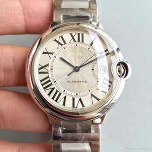 2019 Reloj para hombre CAR BALLON W69012Z4 Serie Blanco 42 MM Calendario Dial Automático Mecánico Hebilla de acero inoxidable Reloj de pulsera masculino zafiro