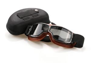 Nuevo Vintage Harley Gafas de motocicleta Ciclismo Gafas Motocross Moto Gafas Scooter Goggle Gafas a prueba de viento Harley Gafas de sol con caja