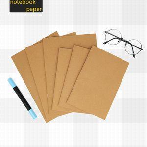 Vintage Kraftpapier Rindsleder Notebook Papier leer Notizblock Buch Hand Kopie Cover Notizblöcke Daily Paper Journal Briefpapier