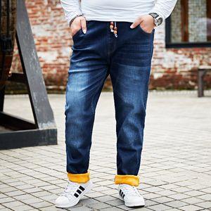 8XL 7XL 48 46 plus size New Men Activities Warm Jeans High Quality Brand Autumn Winter Jeans warm flocking soft men