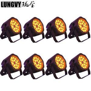 8 unids / lote 18x15w 5in1 RGBWA Par de Led Impermeable LED Par de Luz IP65 DMX512 Par de LED Al Aire Libre Puede Escapar de Luz