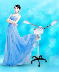Venda quente Profissional Quente Frio Ozônio Vaporizador Double-end Facial Steamer Pele Hidratante Rosto Spray De Limpeza De Vapor Beleza Equipamentos