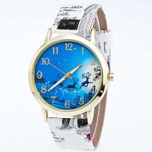 Fashion Designer Watch Women Luxury Watches Stampa PU cinturino in pelle vestito da polso al quarzo Orologio regali di Natale Montre Feminino