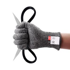HPPE cut доказательство перчатки 5 cut доказательство палец PU смоченной перчатки анти резки кухня деревообработка открытый защиты бесплатная доставка