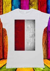 Kadın Tee Polonya Bayrağı Polonya Polska Vintage T-shirt Erkekler Kadınlar Unisex 1421 Kadınlar Yenilik Tees Tops