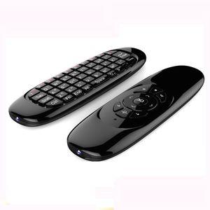 أفضل بيع c120 تحلق الهواء الفأر البسيطة اللاسلكية فينيشيوس qwerty التحكم عن لعبة تحكم لالروبوت صندوق التلفزيون البسيطة pc 6 الجيروسك ...