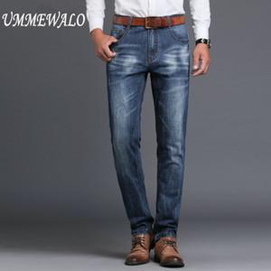 Denim New Brand Men Designer Stretch Casual Straight Leg Denim Jeans Hombre Regular Fit Cotton Business Pants Vaqueros Hombre