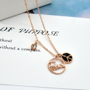 designer jewelry necklace for women titanium steel disc Peace pendant necklace hot fashion free of shipping