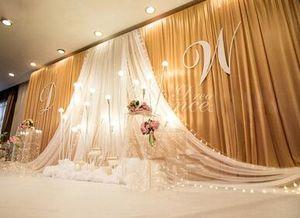 Düğün Arkaplan damla Parti Sahne Kutlama Arkaplan Saten Perde Hayta Pillar Tavan Arka Plan Evlilik dekorasyon Veil
