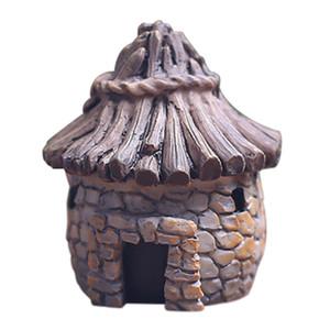 3*4.3cm Mini DIY dollhouse cute resin crafts house fairy garden miniatures gnome Micro landscape decor bonsai for home decor