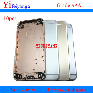 10pcs A quality For iPhone 6S 6S plus Back Cover Housing Aluminum Metal Back Battery Door Cover with Side Button Sim Card Tray