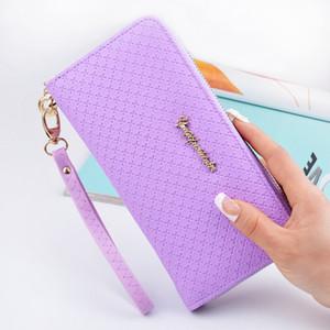Ultime donne cerniera portafoglio lungo femminile borsa della moneta cambiamento chiusura borsa borsa dei soldi titolari di carta delle donne portafogli e portamonete borsa del telefono