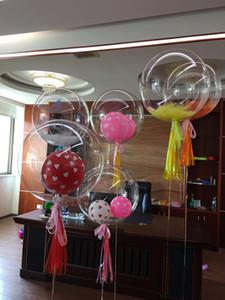 Toptan 24 inç Hiçbir Kırışıklık Bobo Şeffaf Temizle Balonlar Evlilik Düğün Decro Helyum Şişme Toplar Çocuk Severler Hediyeler Oyuncaklar