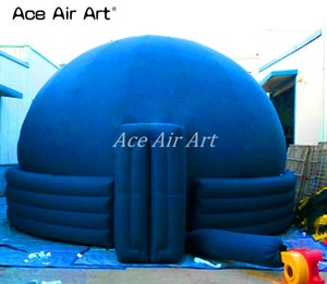المحمولة 360 درجة الأزرق نفخ القبة السماوية خيمة / نفخ الإسقاط CINEMA FILM قبة مع 4 حلقات لعرض العلم المعرض