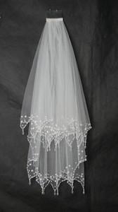 Bling Bling Pearls Beaded 2018 Top Sale Bridal Veil Short Con Peine Accesorios Nupciales Baratos en línea