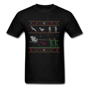 Ugly Zombie Christmas Sweater Herren T-Shirt Bedrucktes T-Shirt Herren Kurzarm O-Neck T-Shirts Summer Stree Twear