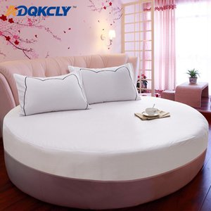 Round Bed Fitted Sheet (3pcs)/Set 100% Cotton Soft Bed Cover with 2pcs Pillowcase Protection Mattress Bedding Set 200cm/220cm