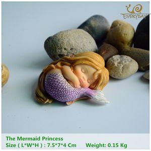 Presentes casa Garden Todos os dias coleção Garden Fantasia estatueta Art Works Home Decor Resina Miniature Mermaid Fairy Princess Statue