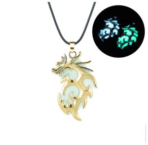 Glow in the Dark Luminious Dragon Pendant Necklace Punk Vintage Jewelry Gift for Boys Girls Friend