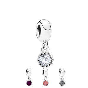 Danty kristall baumeln charme perle mit kristall strass großes loch mode frauen schmuck europäischen stil für pandora armband