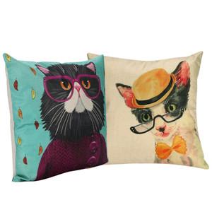 Kreative Cartoon Tier Kissenbezug Hause Bettwäsche Sofa Kissenbezug Auto Taille Kissen Kissenbezug Katzenmuster Kissenbezug